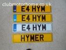 HYMER cherished registration E4HYM (no charge to transfer)
