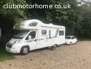 Swift Sundance 630L and Tow Car