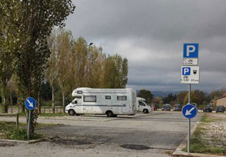 Motorhome parking Italy