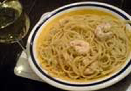 Spaghetti and Prawns