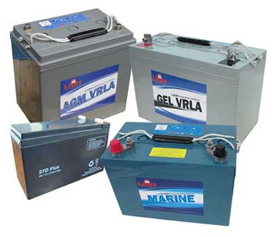 AGM Batteries (example photo)