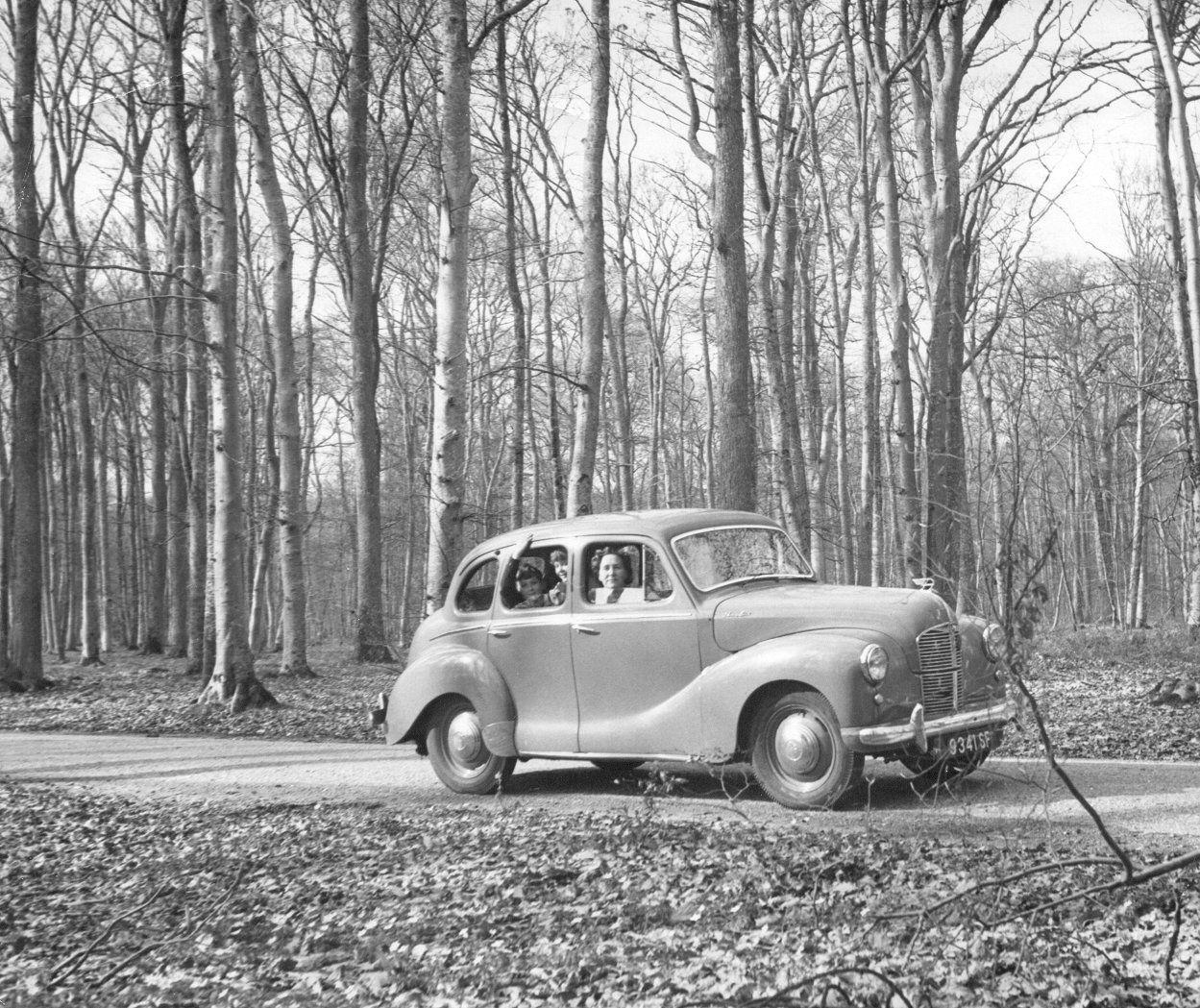 Austin A40 at Fontainbleu Forest