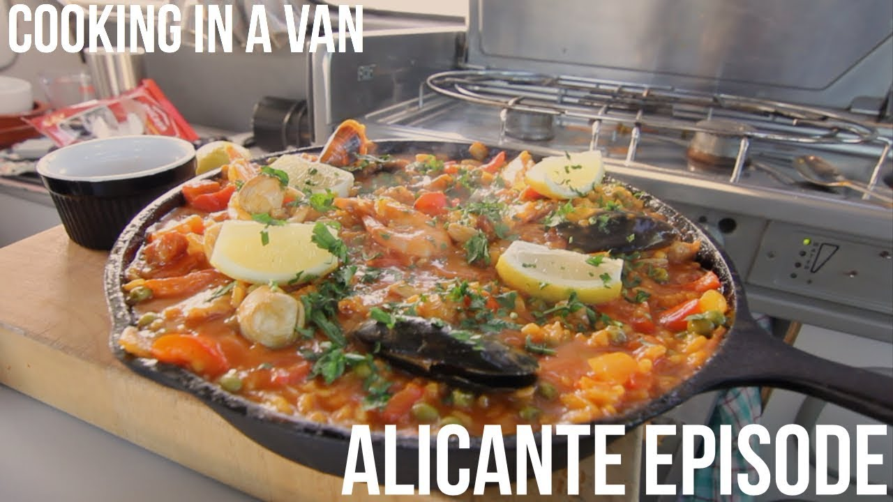 Vanlife: Living in Alicante in a camper. Paella Recipe and a Pink Lake